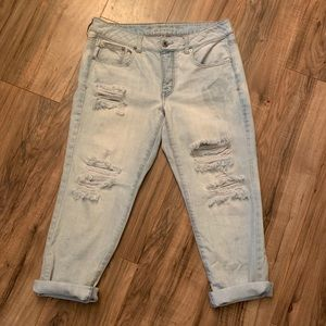 American Eagle Ultra Distressed Cropped Jeans
